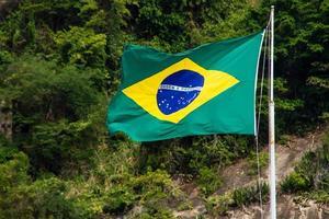 drapeau du brésil à l'extérieur photo