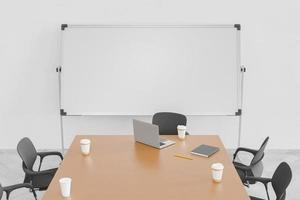 salle de conférence avec tableau blanc photo
