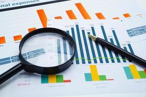 données de graphique graphique pour la finance d'entreprise. photo