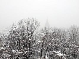 vue sur turin sous la neige photo