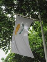 drapeau chypriote de chypre photo
