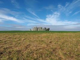 monument de stonehenge à amesbury photo