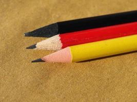 drapeau allemand de l'allemagne fait avec un crayon photo