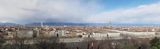 large vue aérienne panoramique de turin photo