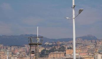 vue sur Gênes Italie depuis la mer photo