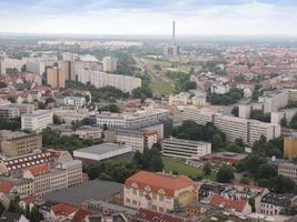 vue aérienne de leipzig photo