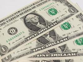 billets de 1 dollar photo