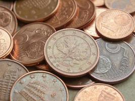 fond de pièces en euros photo