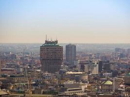 vue aérienne de milan photo