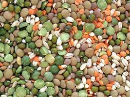salade de haricots mélangés photo