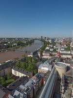 vue aérienne de francfort photo