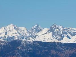 chaîne de montagnes des alpes photo
