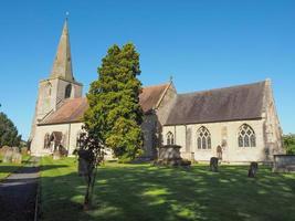 L'église st mary magdalene à tanworth en arden photo