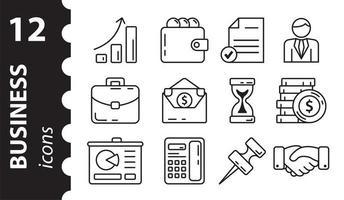 ensemble d'icônes d'affaires. symboles linéaires. illustration vectorielle. photo
