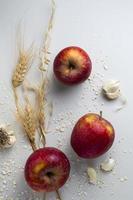 la vue pommes ail arrangement photo