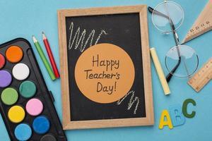 l'assortiment des éléments de la journée des enseignants photo