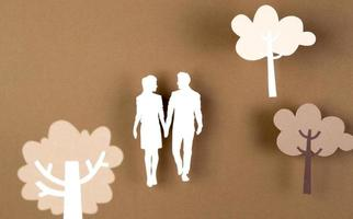 le style de papier de composition d'automne photo