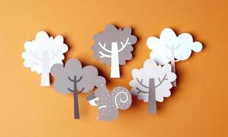 le style de papier d'arrangement d'automne photo