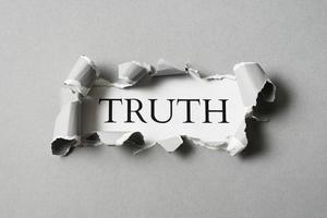 l'arrangement du concept de vérité abstraite photo