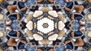 Kaléidoscope de pierres colorées abstraites photo