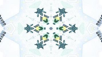 kaléidoscope d'argent abstrait photo
