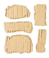 Papier carton déchiré ondulé isolé sur fond blanc photo