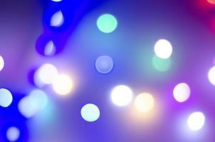 bokeh multicolore aux couleurs néon photo