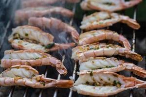 fruits de mer marinés méditerranéens à griller photo