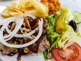 gyroscopes de cuisine grecque photo