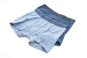 sous-vêtements pour hommes bleu isolé sur fond blanc photo