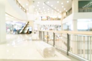 centre commercial flou abstrait et magasin de détail pour le fond photo