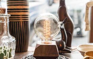 belle décoration de lampe lumineuse photo