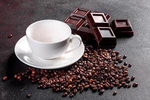 cuisiner du café du matin parfumé et frais pour un début de journée joyeux photo