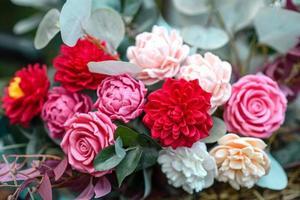 bouquet de couleurs vives à base de savon photo