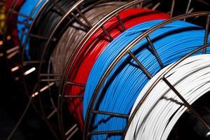 concept de technologie industrielle d'équipement de câbles photo