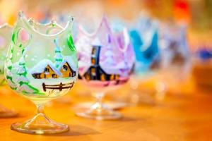 concept de décoration colorée de noël nouvel an photo