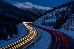 trafic sur i-70, colorado photo