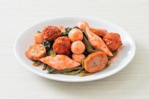 boulettes de poisson sautées à la sauce yentafo photo