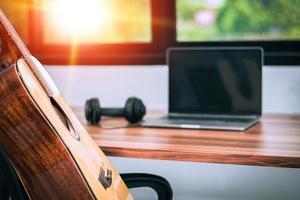 guitare dans la musique de divertissement home studio photo