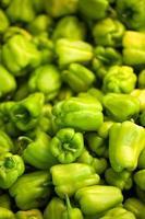 aliments crus légume poivron vert photo