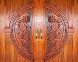 dragon sculpté motif bois texture photo
