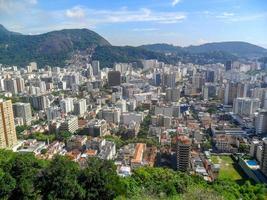 quartier botafogo vu du haut de la colline saint john photo