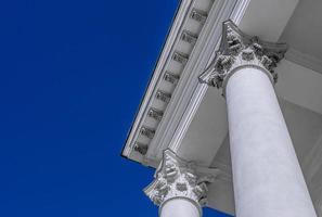 ordre corinthien se bouchent. architecture antique. photo