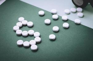 dépenser de l'argent pour acheter des pilules. photo