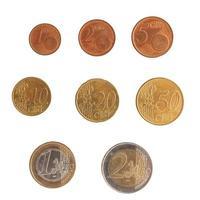 série de pièces en euros photo