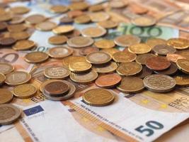billets et pièces en euros, union européenne photo