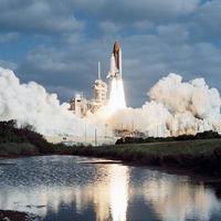 lancement de sts-31 par la nasa, centre spatial Kennedy, Floride, 24 avril 1990 photo