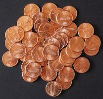 pièces d'un dollar 1 cent centime de blé photo
