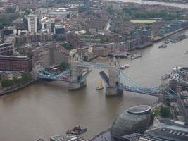 vue aérienne de londres photo