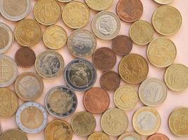 pièces en euros, fond de l'union européenne photo